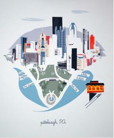 Diseño de pittsburgh http://www.houzz.com/photos/5992218/Pittsburgh-Print-by-Albie-Designs-contemporary-prints-and-posters-