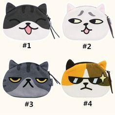 Neko Atsume Kawaii Cat Expression Purse SP168088