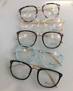 Glasses Frames Trendy, Fake Glasses, Cool Glasses, New Glasses, Dior Eyeglasses, Glasses Trends, Lunette Style, Cute Sunglasses, Sunglasses
