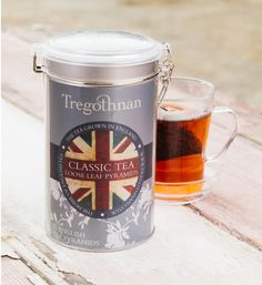 Classic Tea, needs no introduction. The all-rounder, the any-timer and the always-satisfying. Seen here in loose leaf pyramid form but also available in sachets for added freshness and loose leaf. Truro Cornwall, Tea Tins, Tea Strainer, Fun Cup, Flag Decor, High Tea, Coffee Cans, Afternoon Tea, Biodegradable Products