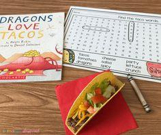Literacy Snack Idea Dragons Love Tacos
