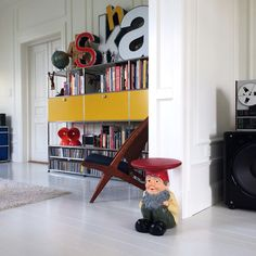 We talk to Instagram user Medisterkake from Drammen, #Norway. He effortlessly combines iconic #mid-century #furniture with pop culture icons to create an inspiring and original space. Featured items include #designs by #VernerPanton, #Eames, #Saarinen, #DieterRams and #KayBojesen blended with his fantastic #lego and #stormtrooper to create a playful #interior.   http://www.objectifixation.design/medisterkake-norway/  #USMHallerUnit #storage #interiors