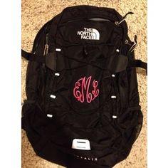 North face backpack, black backpack, cute school supplies, next year, me gu