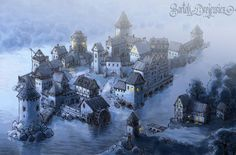 Early morning before the whole of the castle is awake.  Art by: Bartek Drejewicz