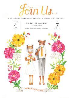 Fantastic Mr. Fox wedding invitation