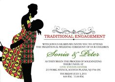 Traditional Wedding Decor, African Traditional Wedding, Traditional Wedding Invitations, Simple Wedding Invitations, Diy Invitations, Wedding Invitation Cards, Invitation Ideas, Engagement Invitation Template, Chicago Wedding Venues