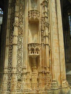Detalhes no interior da Capela Imperfeitas Mosteiro da Batalha