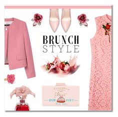 """Strawberries and cream (Top Fashion Sets for May 15th, 2017)"" by ekaterina-uglyanitsa ❤ liked on Polyvore featuring Cecilia Ma, Gucci, Betsey Johnson, Marc by Marc Jacobs, Agraria and brunchgoals"