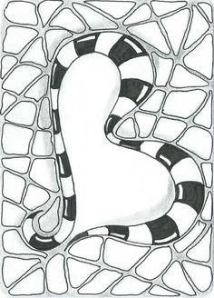 Zentangle letter B Doodles Zentangles, Zentangle Patterns, Zen Doodle, Doodle Art, Alex Gray Art, Square 1 Art, Sailor Moon Stars, Lettering Styles, Scrapbook Designs