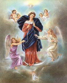 This religious artwork features an image of the Blessed Virgin Mary inspired by an unknown artist who painted Mary Undoer of Knots with great grace.H is painting has been venerated in the Church of St. Peter in Perlack, Germany since 1700. | eBay!