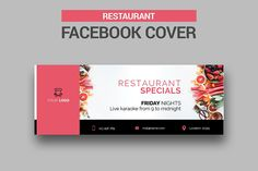 6 Restaurant Facebook Covers by UNIK Agency on @creativemarket