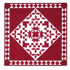 Red and White Delight Quilt - New Quilt Dies - New Sizzix Releases - Column 1 - Products
