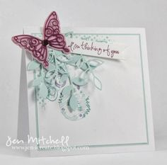 Butterflies, thinking of you card, jen-icreate.blogspot.com, I Create