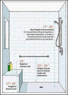 bath and shower dimension