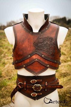 "Medieval fantasy leather armor ""the Pirate"" Viking Armor, Medieval Armor, Medieval Fantasy, Armadura Medieval, Larp, Crea Cuir, Armadura Cosplay, Medieval Party, Armor Clothing"