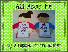 $$$3.00 - 17 pages - A writing activity.  I could send it home and have parents help their little ones fill it out for our getting to know you week.////A Cupcake for the Teacher