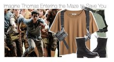 """""""Imagine Thomas Entering the Maze to Save You"""" by xdr-bieberx ❤ liked on Polyvore featuring Current/Elliott and Madewell"""