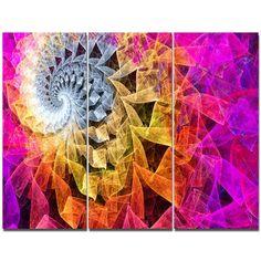 DesignArt 'Colorful Spiral Kaleidoscope' Graphic Art Print Multi-Piece Image on Canvas