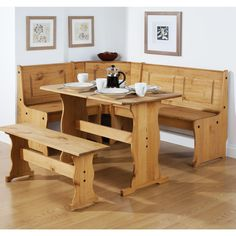 Dining Room Table Set With Bench And Chair The Application Corner Kitchen