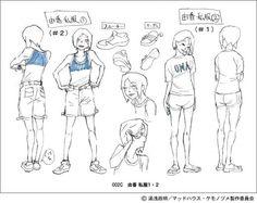 masaaki yuasa. Yuka Kamitsuki character sheets from Kemonozume