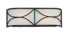 Avara 2-Light Wall Sconce Oil Rubbed Bronze finish with Frosted White glass Model # 88602-ORB