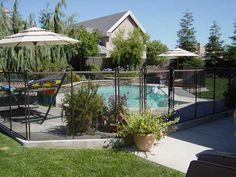 Sadly, We Havenu0027t Yet Seen A Safe Retractable Pool Fence On The Market Yet.  The Best Alternative Is A Mesh Fence With A Self Closing And Self Latching  Gate.