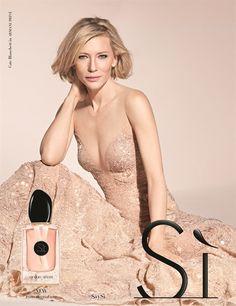 Cate Blanchett for Giorgio Armani Si Cate Blanchett, Parfum Chloe, Armani Fragrance, Giorgio Armani Si, Celebrity Perfume, Parfum Spray, Armani Prive, Beautiful Actresses, Divas
