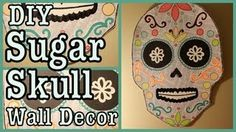 DIY SUGAR SKULL WALL DECOR