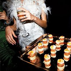 Cocktail Party Style: Tomato tartare stacked on a Parmesan crostini and topped with a sunny-side up quail egg. Cocktail Party Food, Wedding Appetizers, Fun Cocktails, Canapes, Wedding Ideas, Party Wedding, Cocktail Wedding Reception, July Wedding, Reception Party