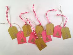 Christmas Gift Tags by OccasionalGoods on Etsy www.etsy.com/shop/OccasionalGoods
