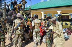 Nigerian troops rescue over 330 women, children held by Boko Haram - Yahoo News