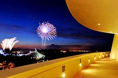 Top Floor Balcony Just for Bay Lake Tower Guests to Watch The Fireworks.