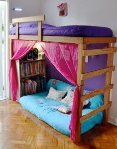 loft bed, I am really digging the colors
