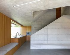 Image 8 of 18 from gallery of Chalet, Val D'hérens / Savioz Fabrizzi Architectes. Photograph by Thomas Jantscher Concrete Architecture, Modern Architecture House, Modern House Design, Interior Architecture, Interior Design, Swiss Chalet, Swiss Alps, Wood Cladding, Cabin Interiors