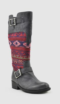 Black & Pink Deal Boot... Dare to be bold when you wear these