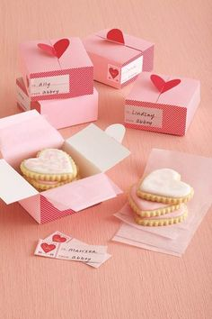 Package up your Valentines into sweet little treats.