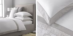 Genoa Bed Linen Collection - Misty Blue