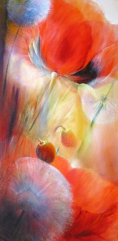 Annette Schmucker Poppies and Dandelions Size: x inch. Technique: Oil Medium: Canvas Size: x inch Technique: Oil Medium: Canvas Watercolor Flowers, Watercolor Paintings, Art Et Nature, Arte Floral, Art For Art Sake, Love Art, Painting Inspiration, Art Pictures, Painting & Drawing