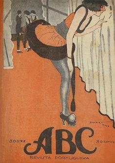 Revista ABC, número 31, ano I, 10 de Fevereiro de 1921. Capa de Stuart Carvalhais (1887-1961)