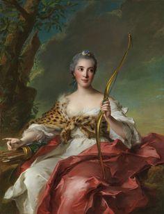 Madame de Maison-Rouge as Diana by Jean-Marc Nattier 1756