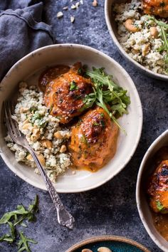 Sweet and Sticky 3 Ingredient Apricot Chicken (with Cauliflower Rice). - Half Baked Harvest