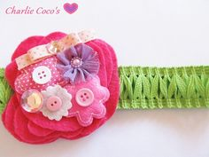 A little bit of everything...headband for girls/ baby.
