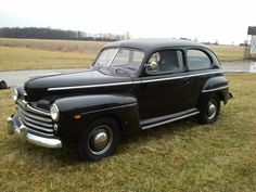 My dad's first car was a 1947 Ford, just like this one...