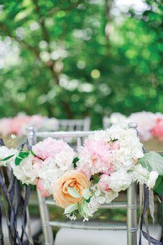 beautiful chair garland by Amy Osaba | Harwell Photography #wedding