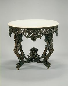 Console Table  Attributed to John H. Belter  (1804–1863)  Date: ca. 1855 Geography: Mid-Atlantic, New York City, New York, United States Culture: American Medium: Rosewood
