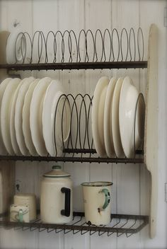 Example of the way I'd like to see the dishes in my cabinets. I hate stacking and then want the one that's on the bottom!
