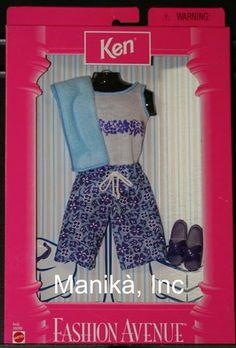 Barbie Fashion Avenue Beach Fashion 18099 23130 for Ken by Mattel 1998 New   eBay