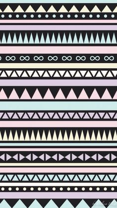 Black and Pastel tribal iphone wallpaper Tribal Pattern Wallpaper, Aztec Wallpaper, Tumblr Wallpaper, Cool Wallpaper, Wallpaper Backgrounds, Hipster Wallpaper, Tribal Patterns, Tribal Prints, Print Patterns