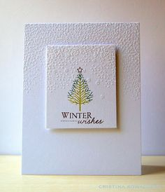 Winter Wishes Card by Cristina Kowalczyk for Papertrey Ink (October 2012)