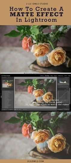If you have ever wondered how to create that beautiful matte finish in your photos – I'm going to show you in this video. 2 Lil Owls Studio - #photographyclasses #photographytips #photographytutorials #digitalphotography#lightroompresets #photoshoptextures #photography #creativebusiness #photoshopactions #2lilowls #creativebusinessideas #stilllifephotography #finearttextures #textures #onlineclasses